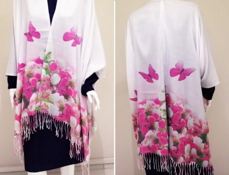 Püsküllü Şallarla En Kolay Kimono Yapımı