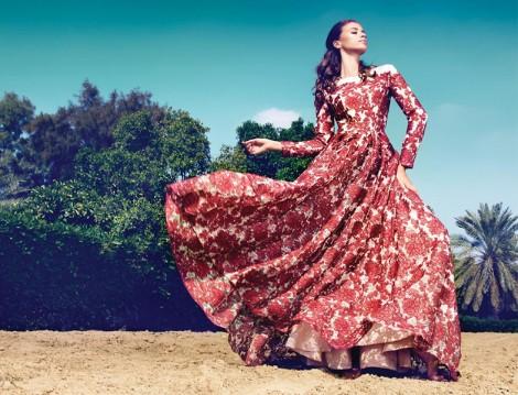 Kayra Gül Desenli Yazlık Elbise