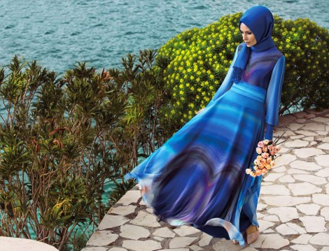 Nihan Mavi Yazlık Elbise