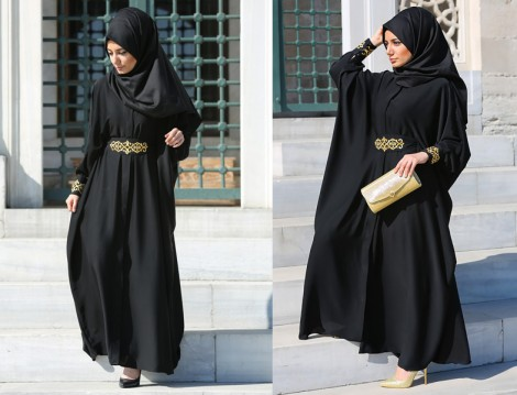 Tesettür 2015 Mezuniyet Elbiseleri