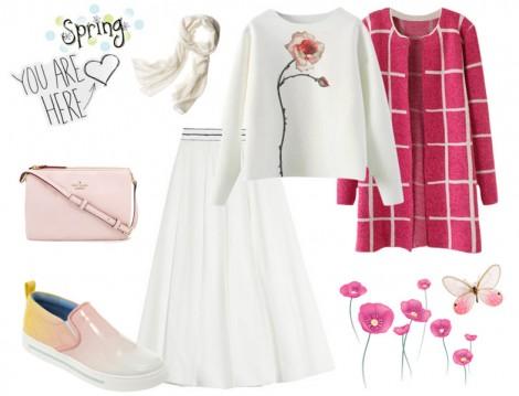 Beyaz Tesettür Giyim Kombinleri