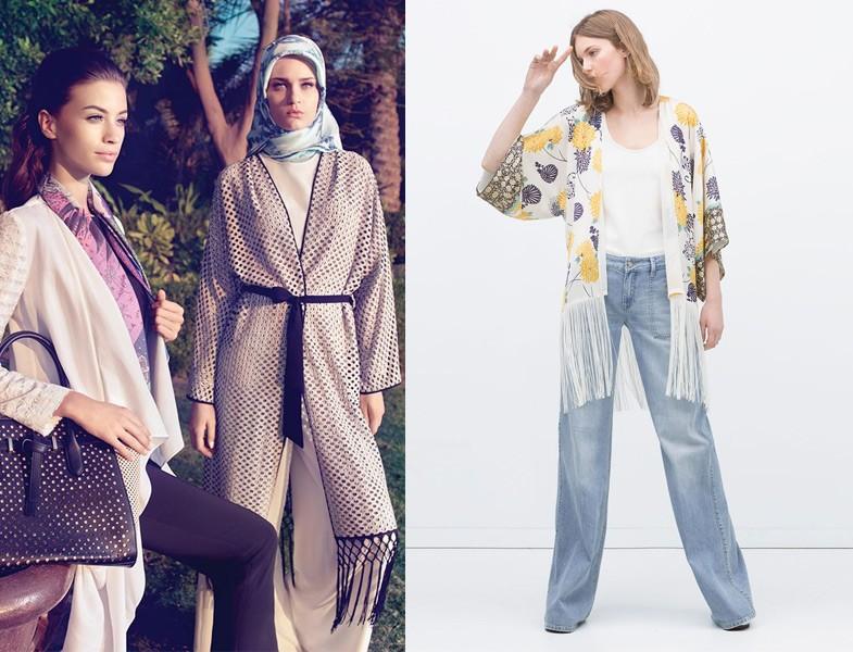 Tesettür Giyim Kimono Modelleri
