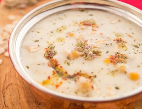 Buğdaylı Nohutlu Yoğurt Çorbası