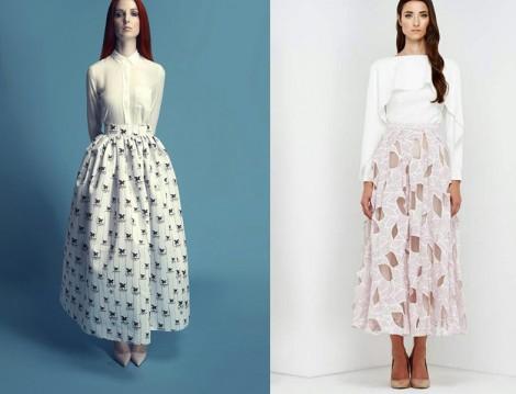 Tesettür Bol Elbise ve Etek Modelleri 2015