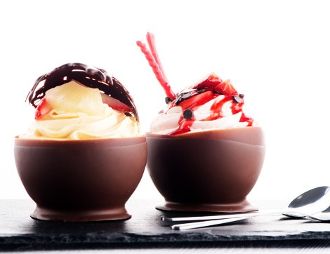 Eğlenceli Bir Tarif: Çikolata Kasesinde Muhallebi