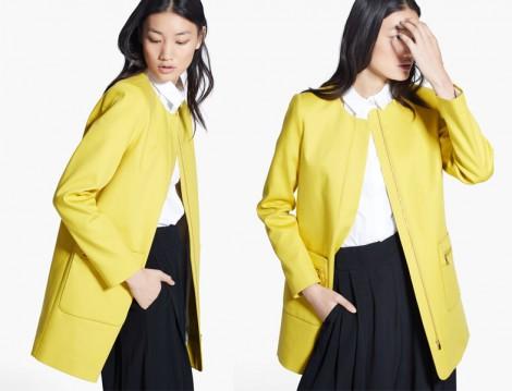 Mango Sarı ceket Modeli