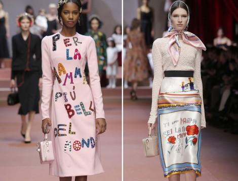 Dolce Gabbana  2015-2016 Sonbahar Kış