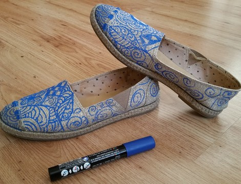 Eski Ayakkabılarınızı Zentangle Modasıyla Yenileyin