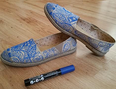Eski Ayakkabılar Zentangle Modasıyla Yenilensin