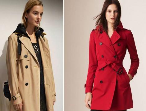 Burberry 2015-16 Sonbahar Kış Treçkot Modelleri