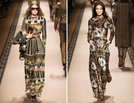 Desenli Uzun Elbise Modelleri 2015