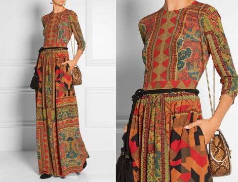 Sonbaharlık Tesettür Elbise Modelleri 2015