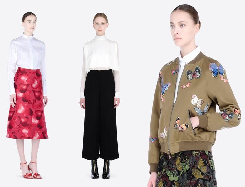 Valentino 2015-16 Sonbahar Kış Beyaz Gömlek Modelleri