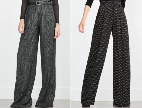 Zara 2015-16 Sonbahar Kış Bol Paça Pantolon Modelleri