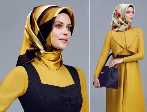 Armine 2015-16 Sonbahar Kış Hardal Sarısı Giyim Modelleri