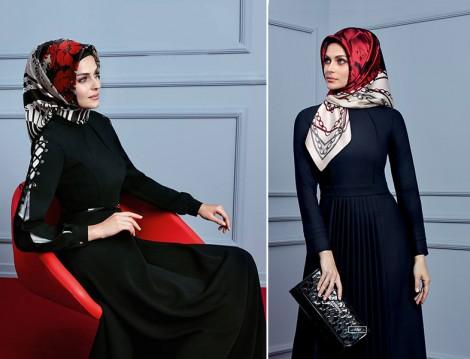 Armine 2015-16 Sonbahar Kış Siyah Elbise Modelleri