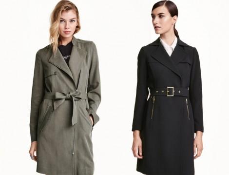 H&M 2015-16 Sonbahar Kış Trençkot Modelleri