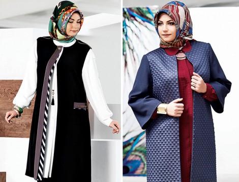 Tekbir Giyim 2015-16 Sonbahar Kış Büyük Beden Giyim Modelleri