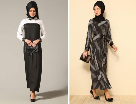 Tesettür Hesaplı Ofis Elbise Modelleri