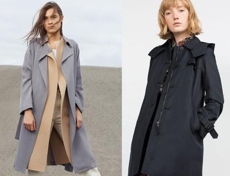 Zara 2015-16 Sonbahar Kış Trençkot