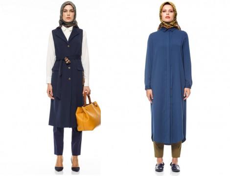 2015-16 Sonbahar Kış Büyük Beden Tesettür Giyim Modelleri (Kayra)