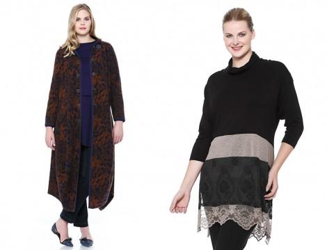 2015-16 Sonbahar Kış Büyük Beden Tesettür Giyim Modelleri (Seçil Store)