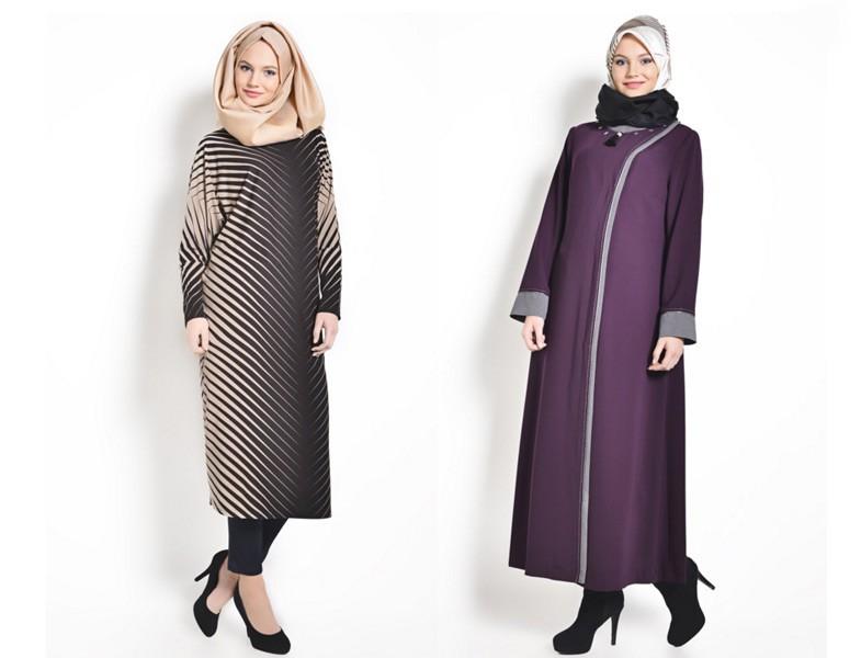 2015-16 Sonbahar Kış Büyük Beden Tesettür Giyim Modelleri (Tekbir Giyim)