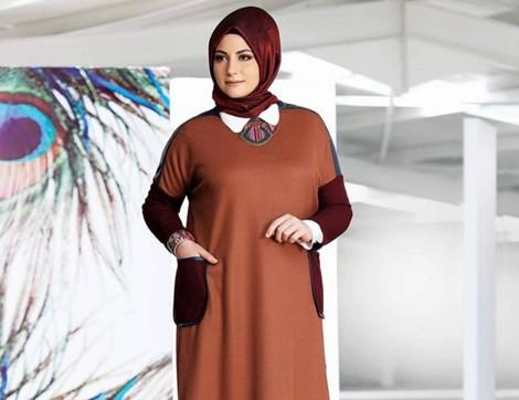 Sezonun En Güzel Büyük Beden Tesettür Giyim Modelleri