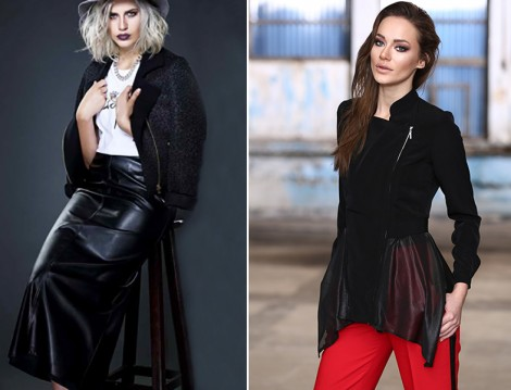 Anna Giyim Deri Etek Ceket Modelleri