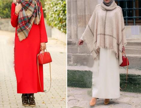 Annah Hariri 2015-16 Sonbahar Kış Elbise ve Panço Modelleri