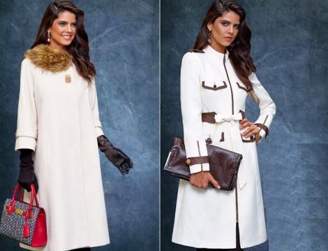 Avenna 2015-16 Beyaz Manto ve Kaban Modelleri
