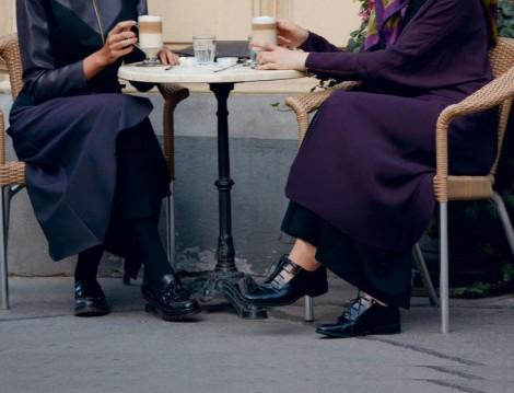 Loafer Ayakkabılarla Desenli Çorap Kombini