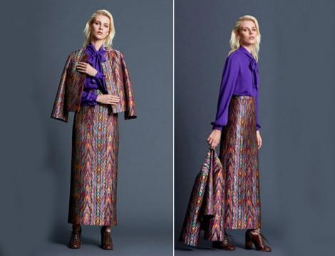 Mimya Renkli ve Desenli Etek-Ceket Modelleri