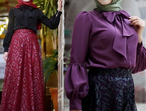 Pınar Şems Fiyonk Yaka Gömlek Modelleri