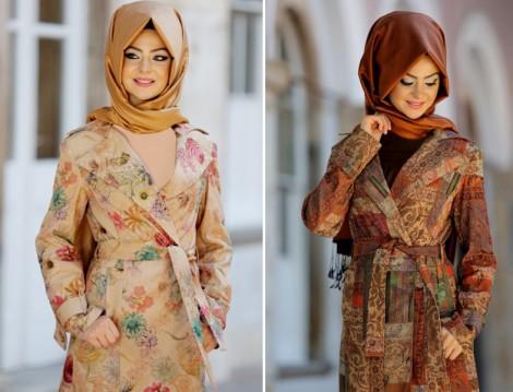 Pınar Şems Renkli ve Desenli Trençkot Modelleri