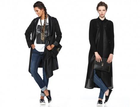 Seçil Store 2015-16 Deri Uzun Ceket Modelleri