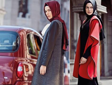 Tuğba Venn 2015-16 Sonbahar Kış Kırmızı Giyim ve Şal Modelleri