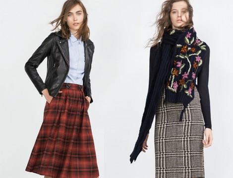 Zara 2015-16 Ekose Etek Modelleri