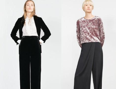 Zara Kadife Bluz ve Ceket Modelleri