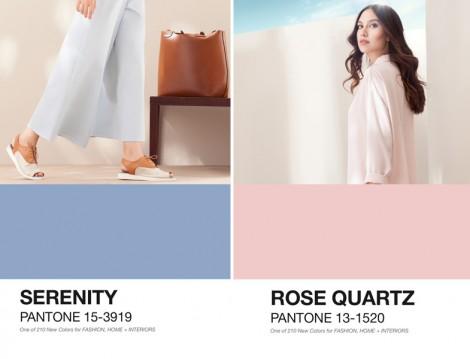 2016 Moda Renkleri Pantone Dingin Mavi ve Kuvars Pembesi