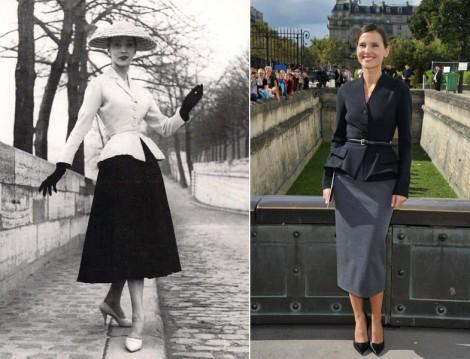 50'lerde Peplum Ceket Modası
