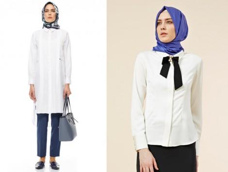 Kayra Beyaz Bömlek ve Tunik Modeli