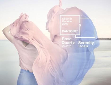 Pantone 2016 Yılının Renklerini Açıkladı; Kuvars Pembesi ve Dingin Mavi