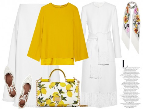 Sarı Tesettür giyim Kombinleri 2016