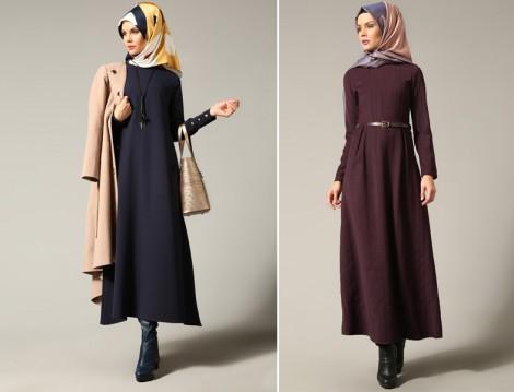Tesettür Hesaplı Elbise Modelleri