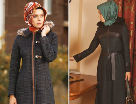 Tesettür Kürk Yaka Kıyafetler