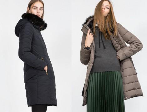 Zara Uzun Şişme Mont Modeli