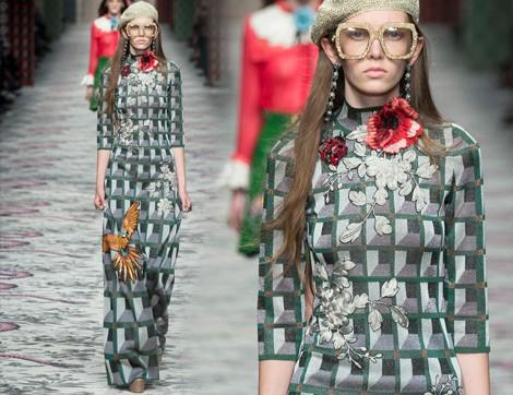 Gucci 2016 İlkbahar/Yaz; 70'lere Yolculuk