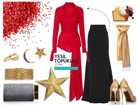 Kırmızı Abiye Takım Modeli 2016