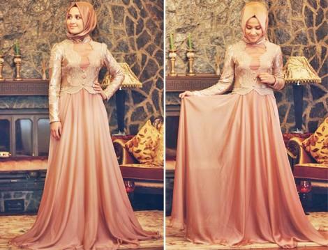 Minel Aşk Tesettür Abiye Elbise Modelleri 2016